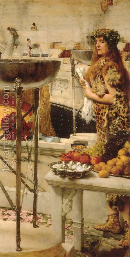 Preparation in the Coliseum by Sir Lawrence Alma-Tadema - Reproduction Oil Painting
