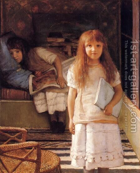 This is our Corner (or Laurense and Anna Alma-Tadema) by Sir Lawrence Alma-Tadema - Reproduction Oil Painting