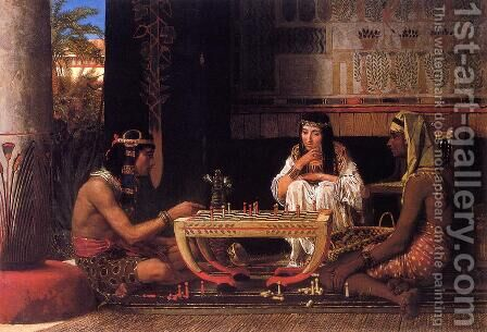 Egyptian Chess Players by Sir Lawrence Alma-Tadema - Reproduction Oil Painting