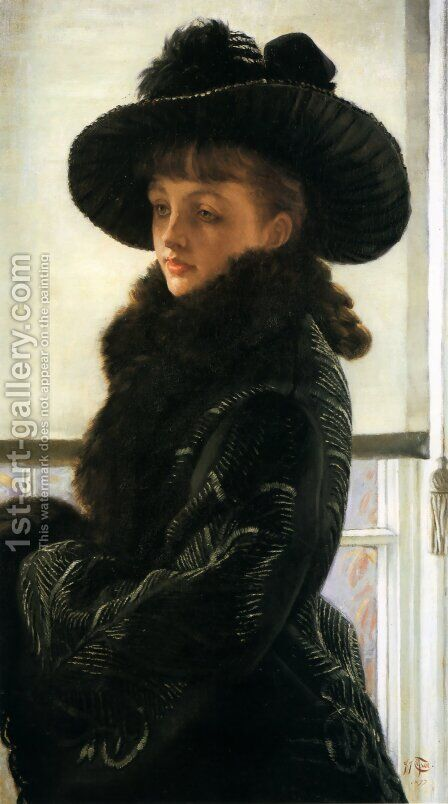 Mavourneen (or Portrait of Kathleen Newton) by James Jacques Joseph Tissot - Reproduction Oil Painting