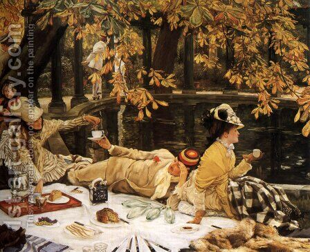 Holyday (or The Picnic) by James Jacques Joseph Tissot - Reproduction Oil Painting