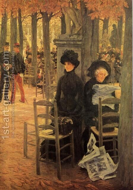 Without a Dowry aka Sunday in the Luxembourg Gardens by James Jacques Joseph Tissot - Reproduction Oil Painting