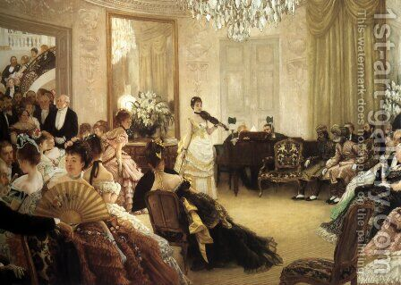 Hush! (or The Concert) by James Jacques Joseph Tissot - Reproduction Oil Painting