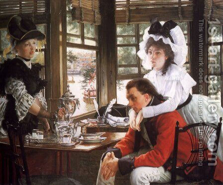 Bad News (or The Parting) by James Jacques Joseph Tissot - Reproduction Oil Painting
