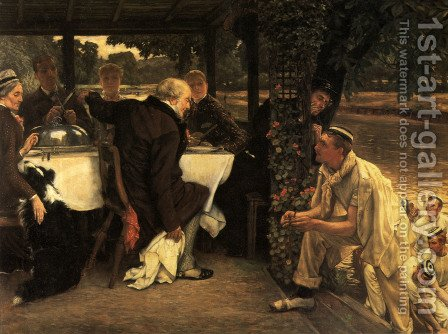 The Prodigal Son in Modern Life: The Fatted Calf by James Jacques Joseph Tissot - Reproduction Oil Painting