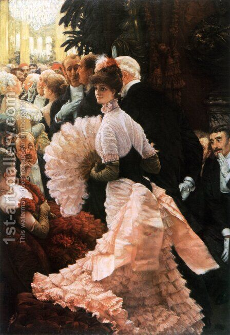 The Political Lady by James Jacques Joseph Tissot - Reproduction Oil Painting
