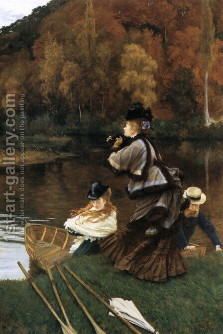 Autumn on the Thames (or Nuneham Courtney) by James Jacques Joseph Tissot - Reproduction Oil Painting