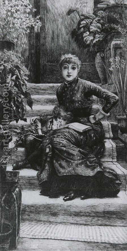 La Soeur Ainee (The Elder Sister) by James Jacques Joseph Tissot - Reproduction Oil Painting