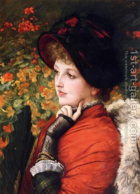 Type Of Beauty (or Kathleen Newton) by James Jacques Joseph Tissot - Reproduction Oil Painting