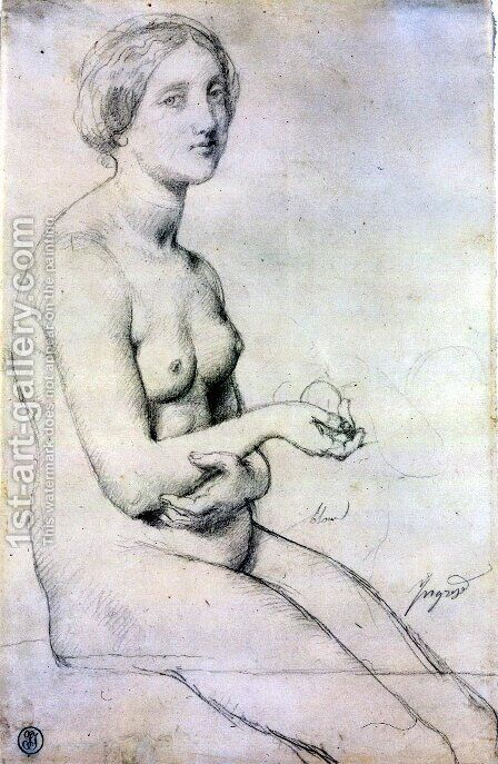 Study for 'Vénus à Paphos' by Jean Auguste Dominique Ingres - Reproduction Oil Painting