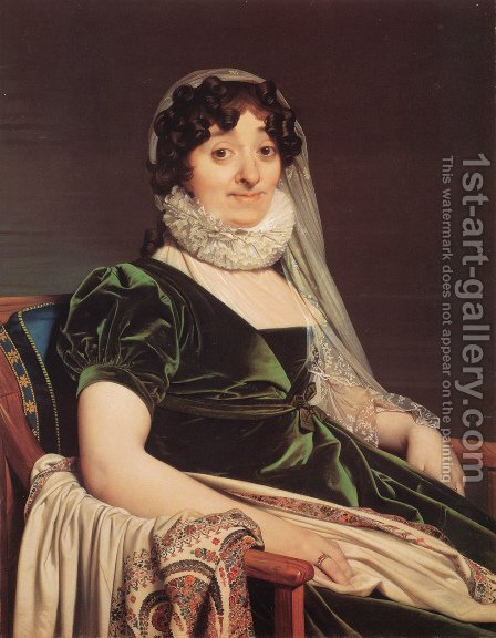 Comtes de Tournon, née Geneviève de Seytres Caumont by Jean Auguste Dominique Ingres - Reproduction Oil Painting