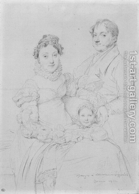 The Cosimo Andrea Lazzerini Family by Jean Auguste Dominique Ingres - Reproduction Oil Painting