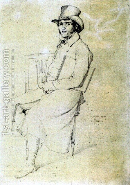 Jean François Julien Menager by Jean Auguste Dominique Ingres - Reproduction Oil Painting
