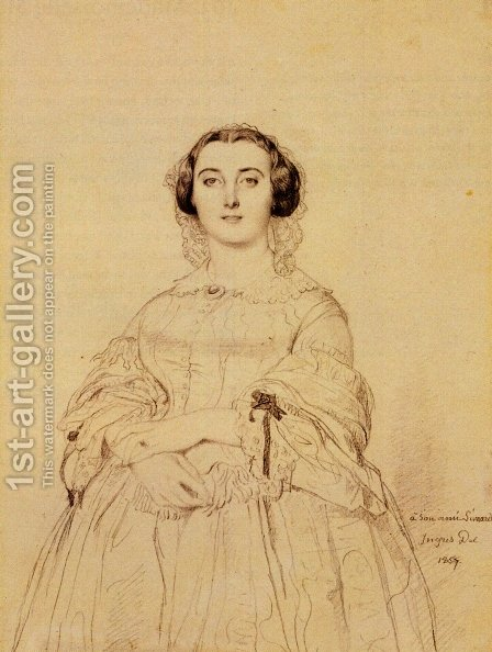 Madame Charles Simart, born Amélie Baltard by Jean Auguste Dominique Ingres - Reproduction Oil Painting