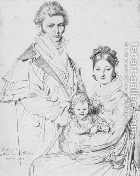 The Alexandre Lethiere Family by Jean Auguste Dominique Ingres - Reproduction Oil Painting