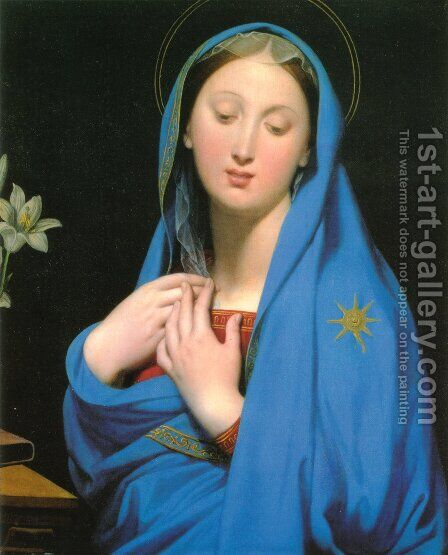 Virgin of the Adoption by Jean Auguste Dominique Ingres - Reproduction Oil Painting