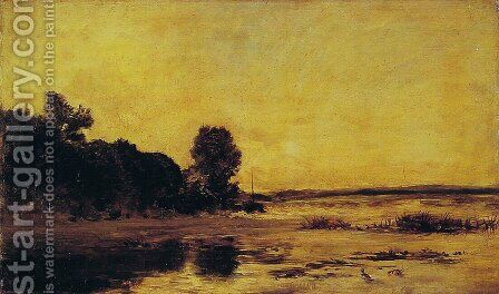 By the Sea by Charles-Francois Daubigny - Reproduction Oil Painting