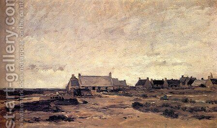 Le Village de Kerity en Bretagne by Charles-Francois Daubigny - Reproduction Oil Painting