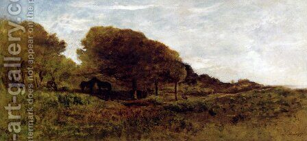 Les Graves De Villerville by Charles-Francois Daubigny - Reproduction Oil Painting