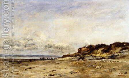 Low Tide At Villerville by Charles-Francois Daubigny - Reproduction Oil Painting