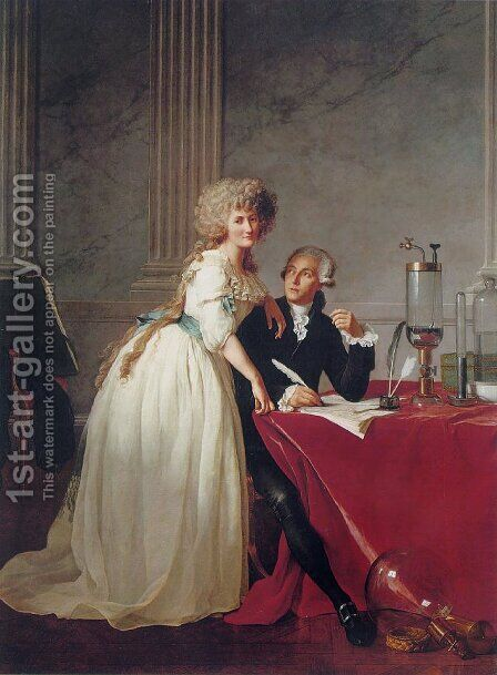 Portrait of Monsieur Lavoisier and His Wife by Jacques Louis David - Reproduction Oil Painting