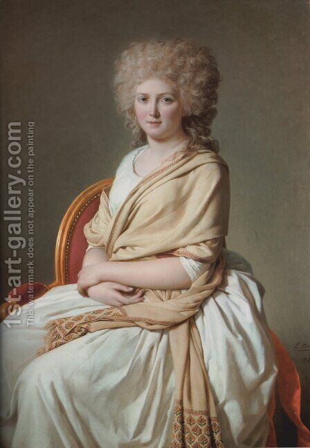 Portrait of Anne-Marie-Louise Thélusson, Comtesse de SorcyPortrait of Anne-Marie-Louise Thélusson, Comtesse de Sorcy by Jacques Louis David - Reproduction Oil Painting