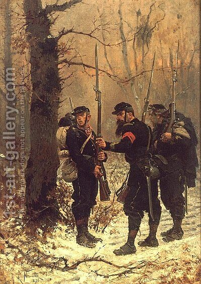 The Post of Danger by Alphonse de Neuville - Reproduction Oil Painting