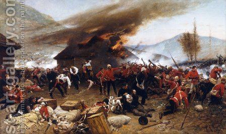 The Defence Of Rorke's Drift by Alphonse de Neuville - Reproduction Oil Painting