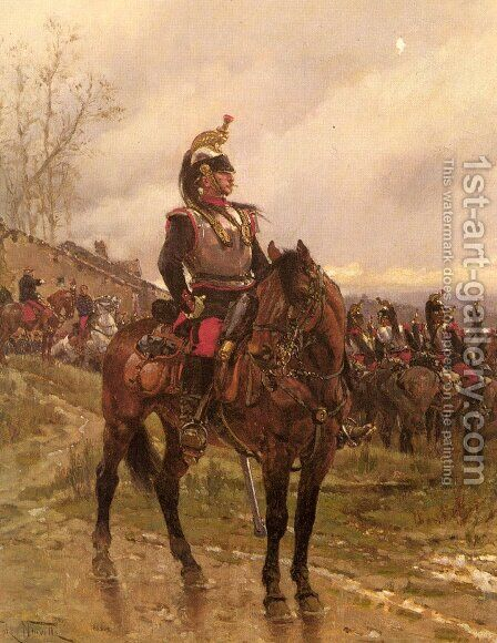 The Hussars by Alphonse de Neuville - Reproduction Oil Painting