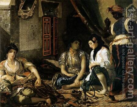 Women of Algiers in their Apartment by Eugene Delacroix - Reproduction Oil Painting