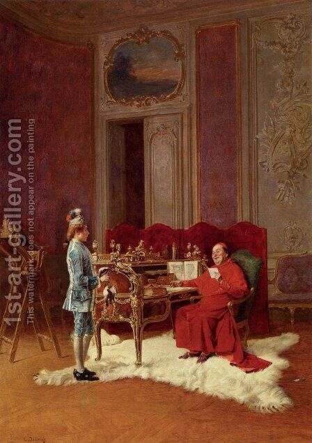 Game For The Cardinal by Charles Edouard Edmond Delort - Reproduction Oil Painting