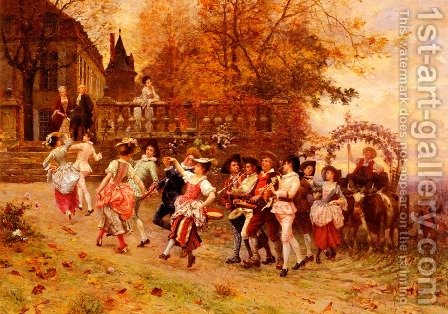 La Fete De Vendange (The Harvest Festival) by Charles Edouard Edmond Delort - Reproduction Oil Painting