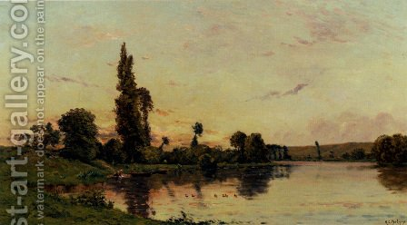 Washerwomen On A Riverbank by Hippolyte Camille Delpy - Reproduction Oil Painting