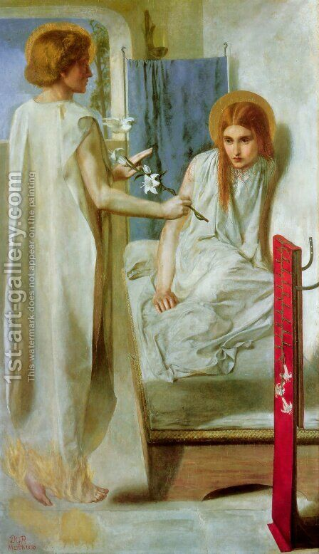 Ecce Ancilla Domini! (The Annunciation) by Dante Gabriel Rossetti - Reproduction Oil Painting