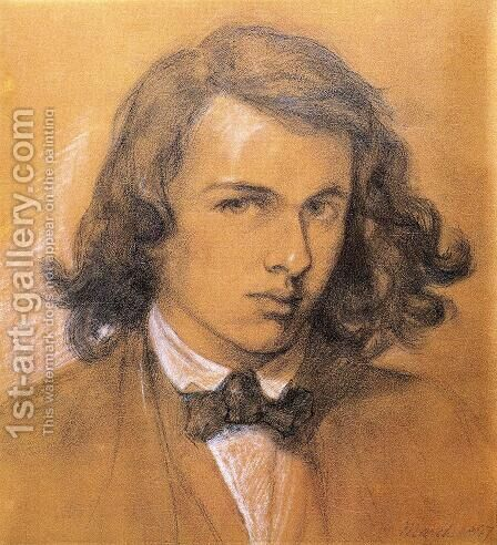 Self Portrait by Dante Gabriel Rossetti - Reproduction Oil Painting