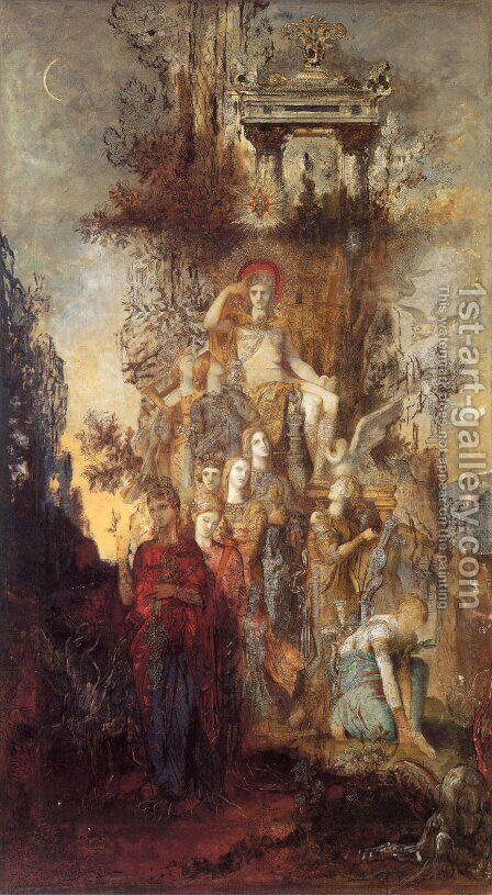 The Muses Leaving Their Father Apollo to go and Enlighten the World by Gustave Moreau - Reproduction Oil Painting