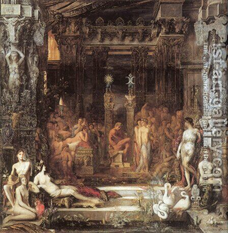The Daughters of Thespius by Gustave Moreau - Reproduction Oil Painting