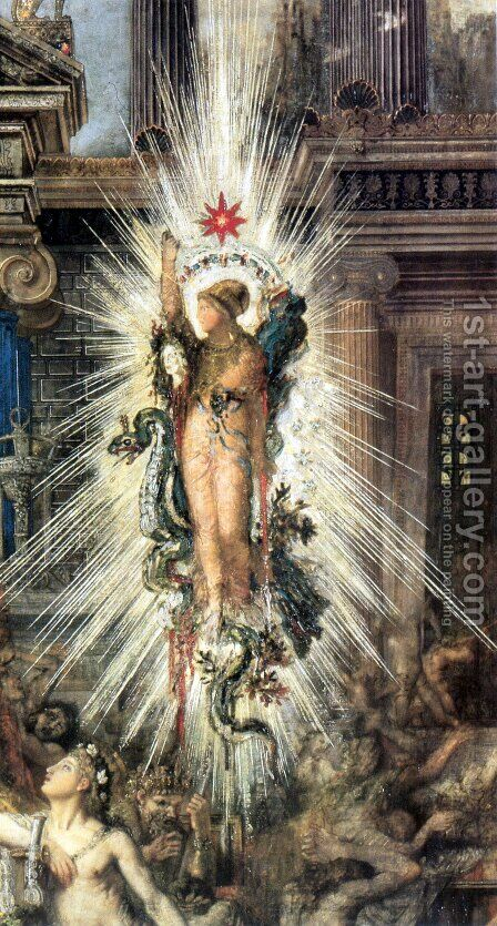 The Suitors - detail by Gustave Moreau - Reproduction Oil Painting