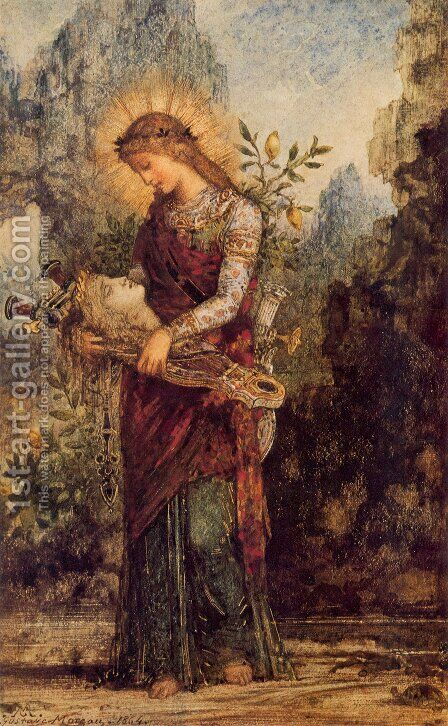 Orpheus (or Thracian Girl Carrying the Head of Orpheus) by Gustave Moreau - Reproduction Oil Painting