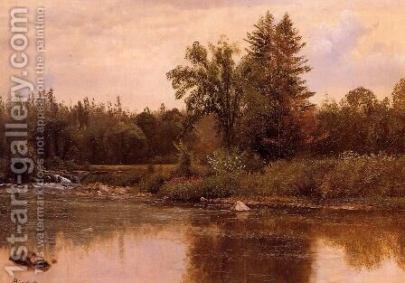 Landscape, New Hampshire by Albert Bierstadt - Reproduction Oil Painting