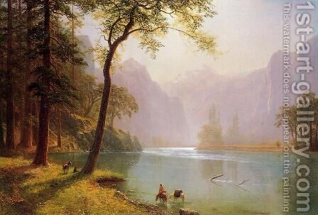 Kern's River Valley, California by Albert Bierstadt - Reproduction Oil Painting