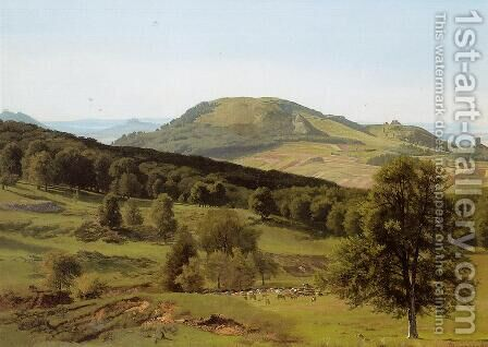 Landscape: Hill and Dale by Albert Bierstadt - Reproduction Oil Painting