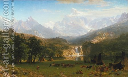 The Rocky Mountains, Lander's Peak by Albert Bierstadt - Reproduction Oil Painting