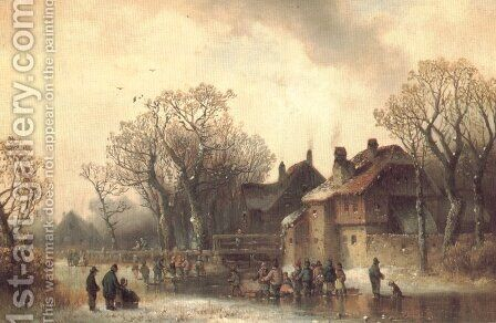 Motiv aus Altenerding in Oberbayern by Anton Doll - Reproduction Oil Painting