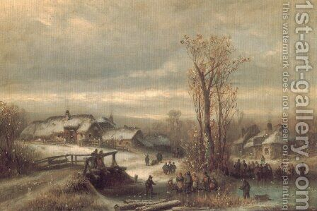 Muhle an Der Sempt in Oberbayern by Anton Doll - Reproduction Oil Painting