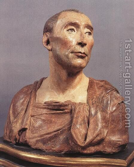 Bust of Niccolo da Uzzano by Donatello (Donato di Niccolo) - Reproduction Oil Painting