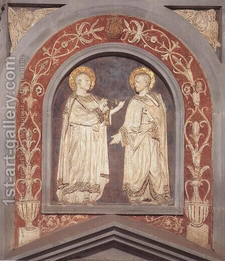 St Cosmas and St Damian by Donatello (Donato di Niccolo) - Reproduction Oil Painting