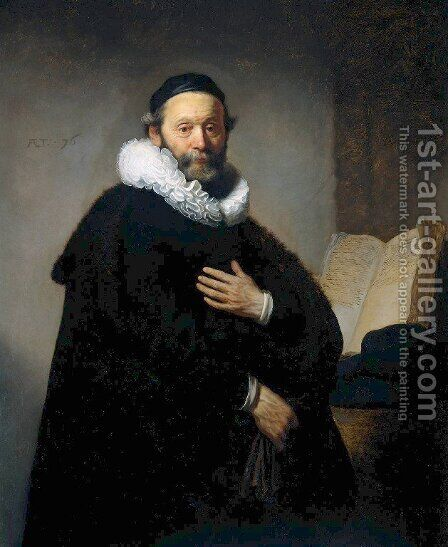 Johannes Wtenbogaert, Remonstrant Minister by Rembrandt - Reproduction Oil Painting