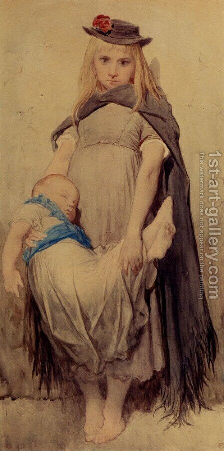 Jeune Mendiante by Gustave Dore - Reproduction Oil Painting