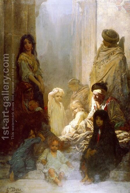 La Siesta (Siesta (Memories of Spain)) (or Souvenir D'Espagne) by Gustave Dore - Reproduction Oil Painting